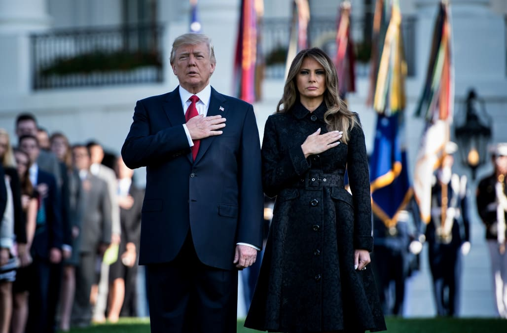 Melania Trump wears head-to-toe black to mark 16th anniversary of September  11 attacks